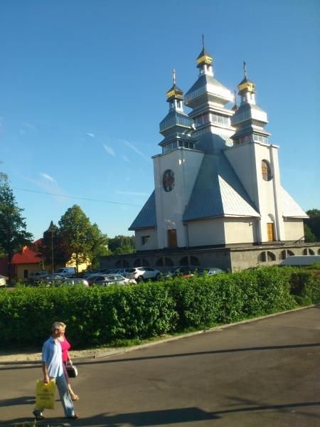 Eine Kirche in der Ukraine