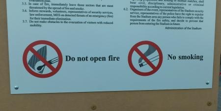 Das Feuer nicht eröffnen