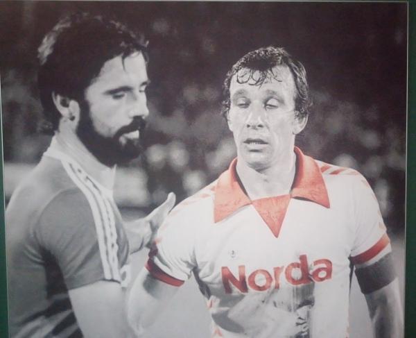 Bild von Gerd Müller und Horst-Dieter Höttges im Weserstadion