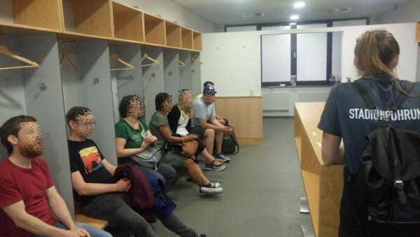 Spielerkabine im Weserstadion