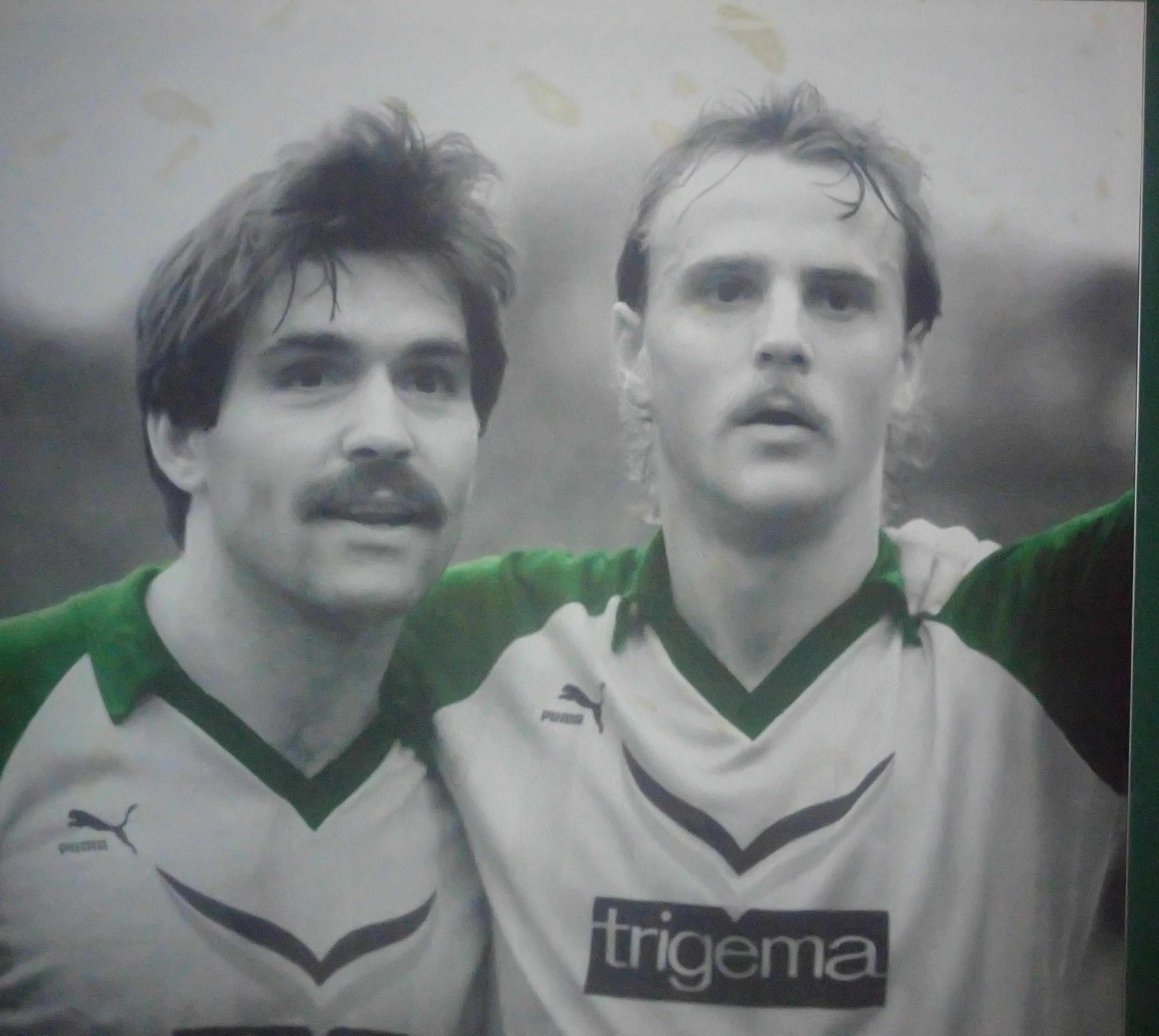 Bild von Mirko Votava und Thomas Schaaf im Weserstadion