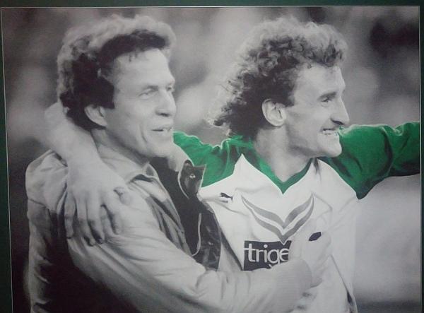 Bild von Otto Rehhagel und Rudi Völler im Weserstadion