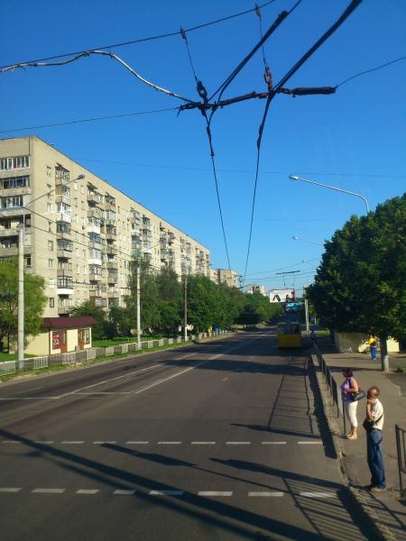 Typische Straßenszene in Lemberg