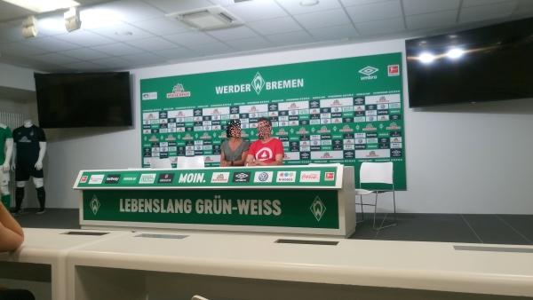 Presseraum im Weserstadion