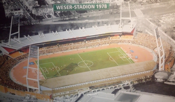 Luftbild vom Weserstadion 1978